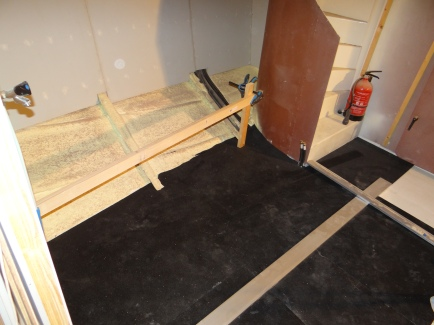 6 mm rubber op de 18 mm ondervloer