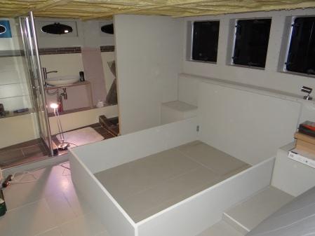 Bed in de achterkajuit (140 x 200)