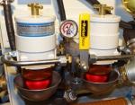 Een dubbel en omschakelbaar Racor filter voor de motor
