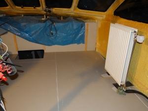 Keuken en stuurstand vloer